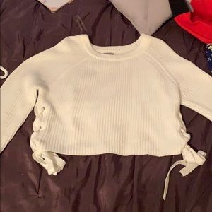Charlotte Russe white/cream sweater